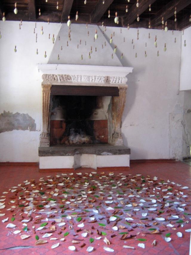 © Renate Egger. Herbarium Magnolia. Installation. Artfarm Pilastro. Pilastro di Bonavigo, Verona, Italy, 2006
