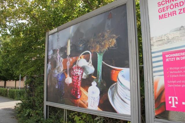© Renate Egger. Memory collection III, 2005. Dresden Public Art View. International Billboard Exhibition. Dresden, Germany 2014